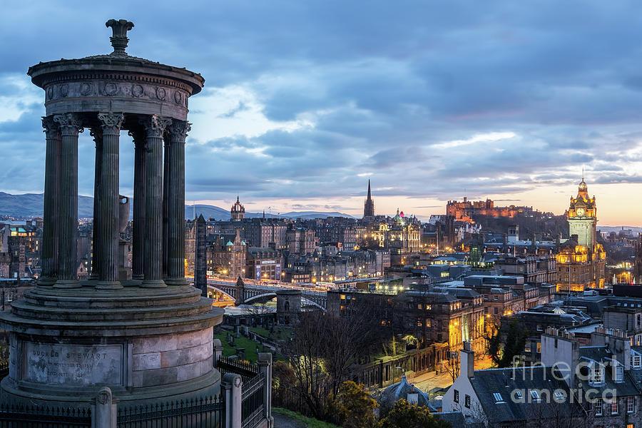 Edinburgh Photograph -  Edinburgh From Calton Hill by Martin Williams