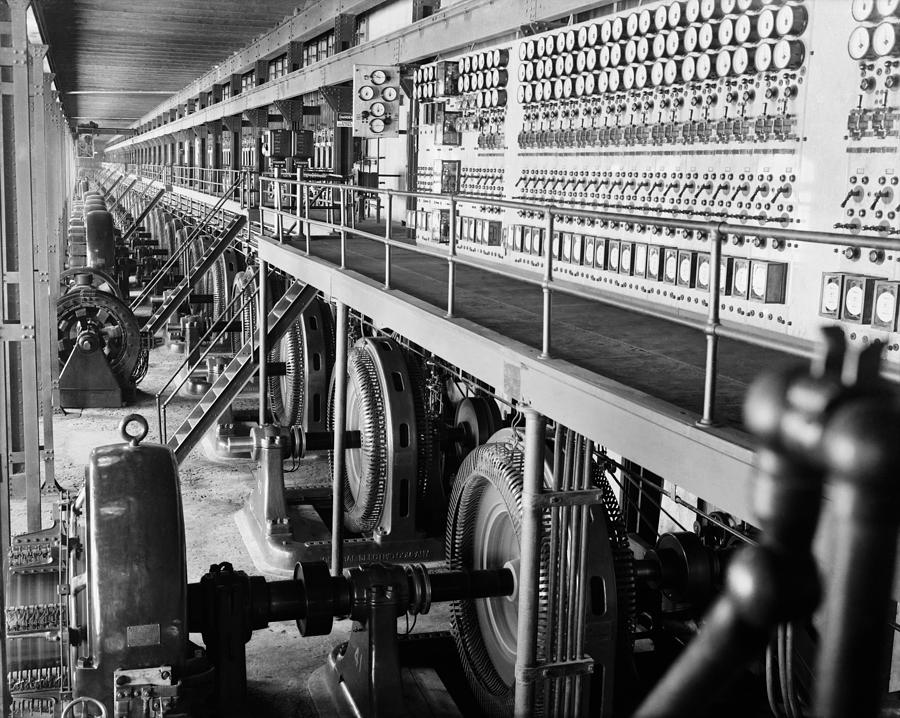 History Photograph - Edison Sault Power Plant At Sault Ste by Everett