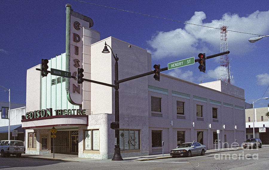 Fort Myers Florida Photograph - Edison Theater  by Richard Nickson