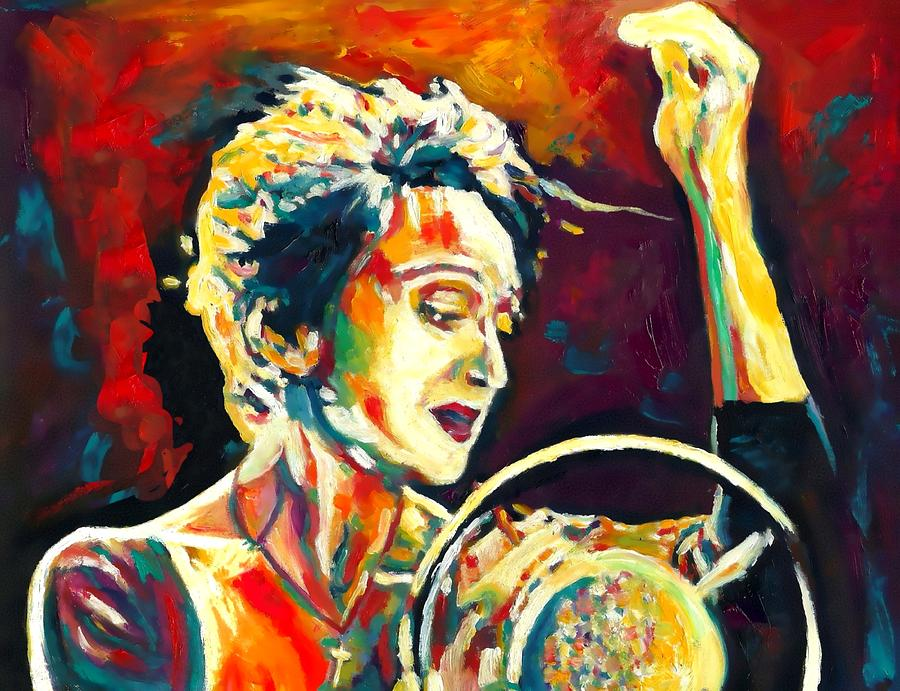 Actress Painting - Edith Piaf- La Mome by Vel Verrept