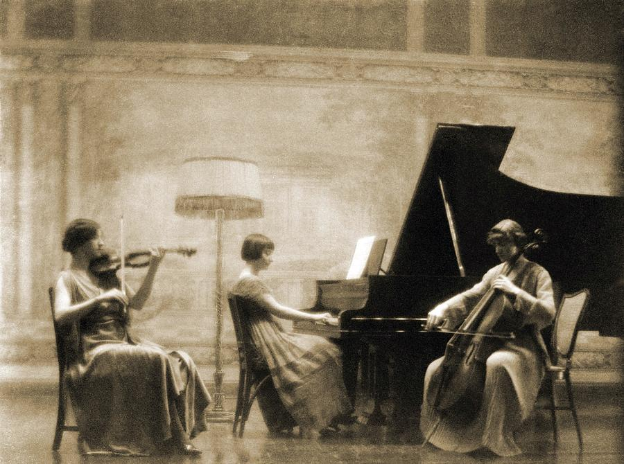 History Photograph - Edith Rubel Trio Performing, Left by Everett