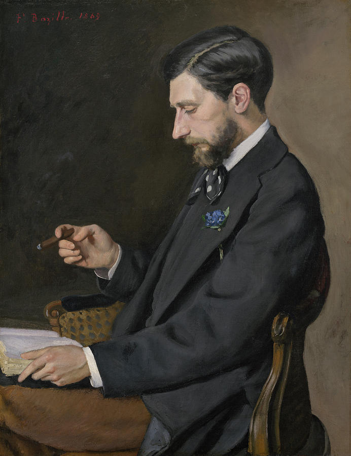 Artist Painting - Edmond Maitre by Frederic Bazille