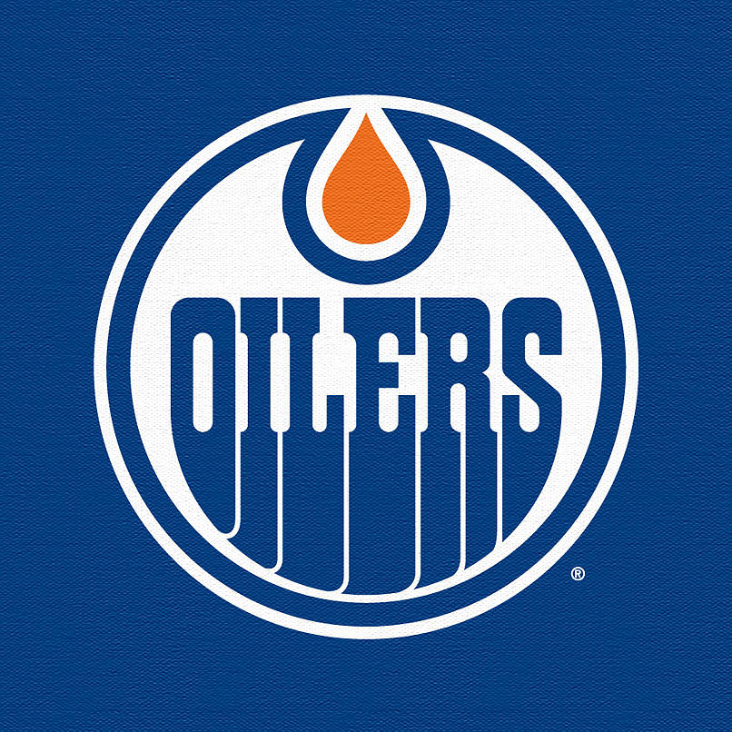 Nhl Digital Art - Edmonton Oilers Dark by Game On Images