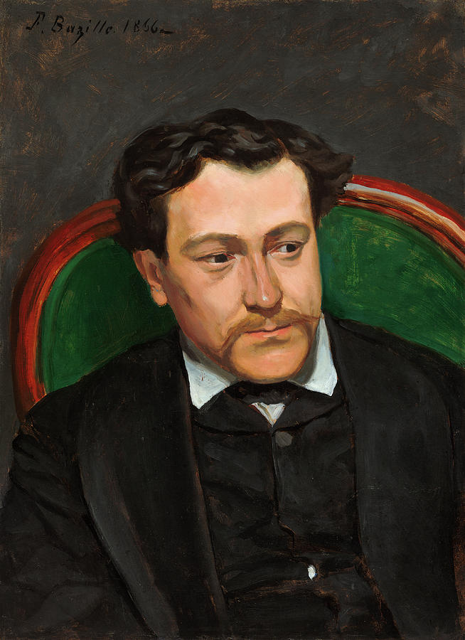 Bazille Painting - Edouard Blau by Frederic Bazille