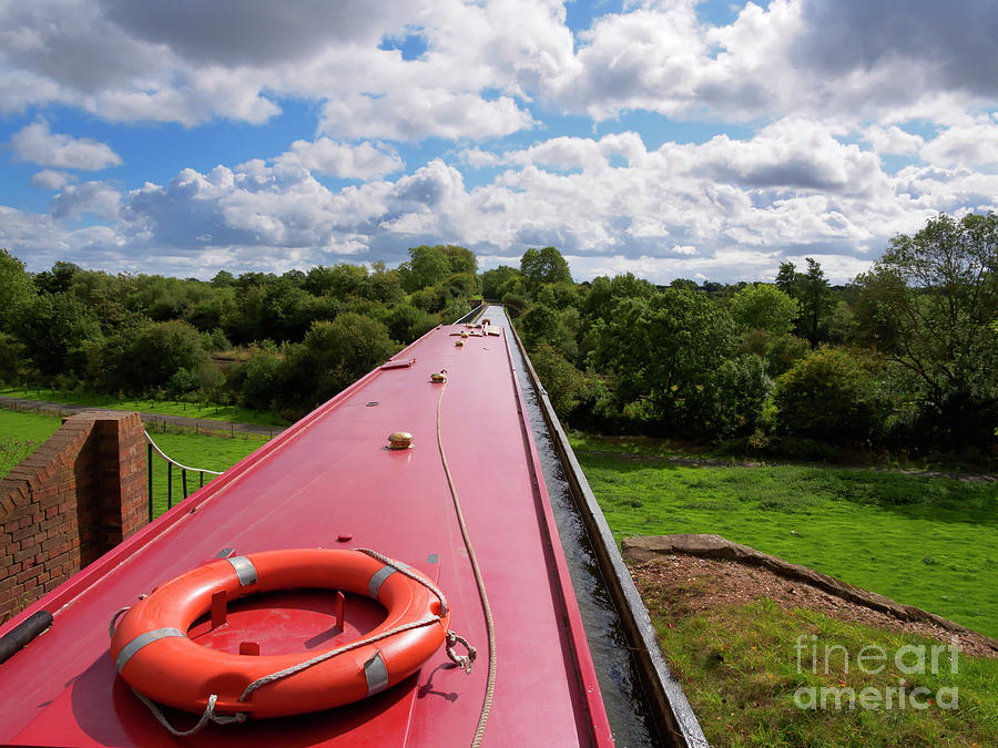 Longboat Photograph - Edstone Aqueduct On The Stratford On Avon Canal by Louise Heusinkveld