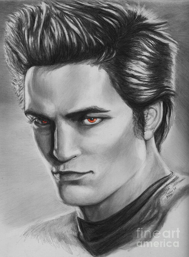 Edward Cullen Of Twilight Movie Vampire Drawing by Carliss ...