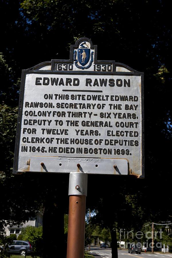 Edward Rawson Photograph