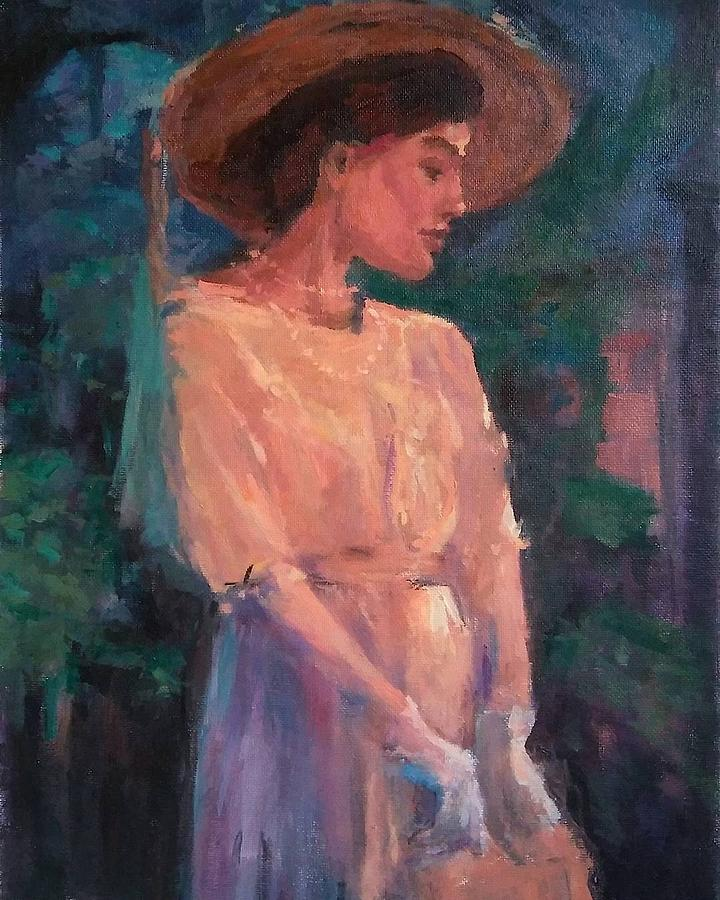 Woman Painting - Edwardian Katie #1 by Brian Kardell