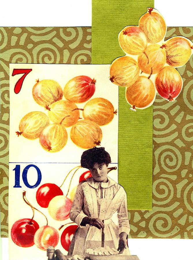 Edwardian Print Mixed Media - Edwardian Pie Lady by Marcia Masino