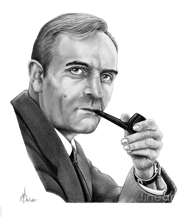 Drawing Drawing - Edwin Hubble by Murphy Elliott