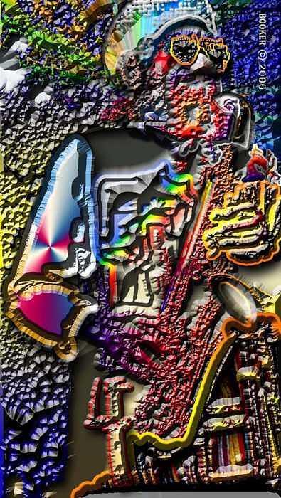 Jazz Digital Art - Eeezzzy   Phlat by Booker Williams