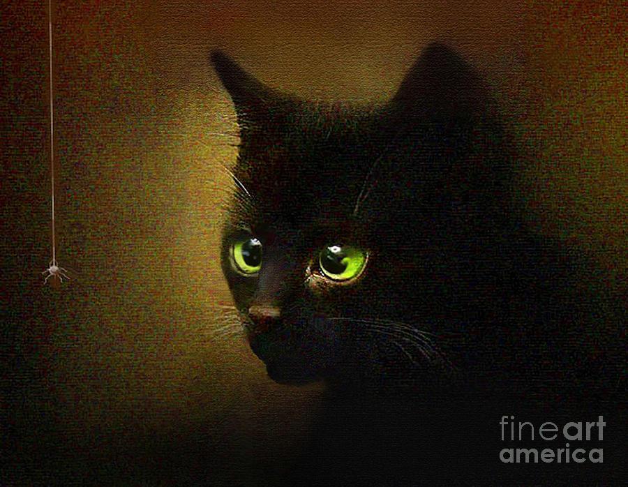 Kitten Painting - Eensy Weensy by Robert Foster