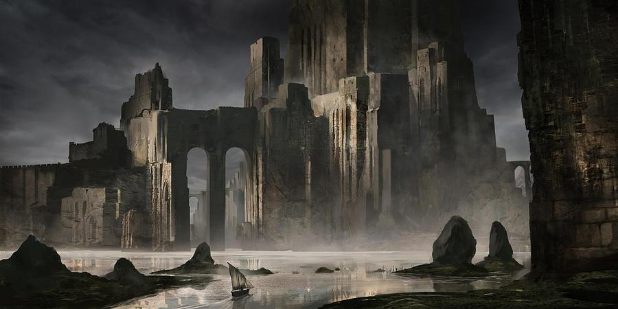 Eerie Landscape Fantasy Art