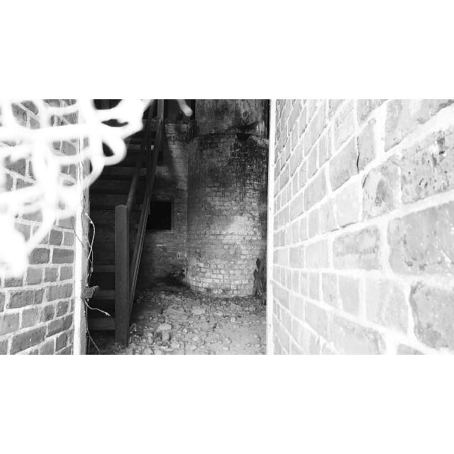 Spooky Photograph - Eerie Look Inside The Martello Tower At by Natalie Anne