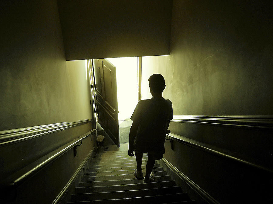 Child Photograph - Eerie Stairwell by Scott Hovind