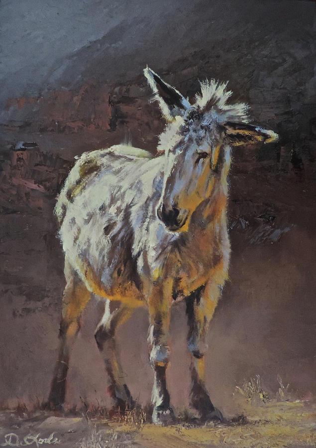 Burro Painting - Eeyore by Mia DeLode
