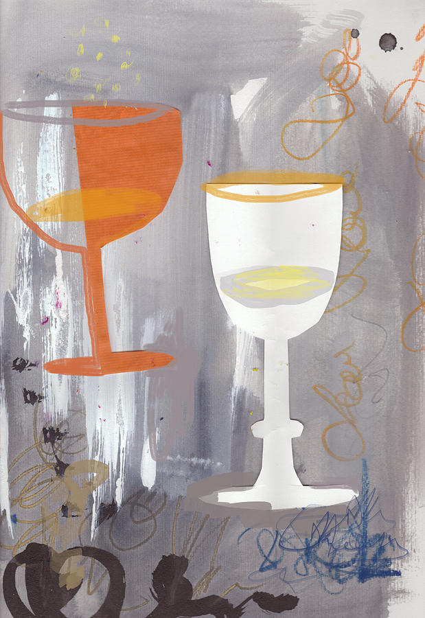 Painting Painting - Efervescent Champagne Cups by Amara Dacer