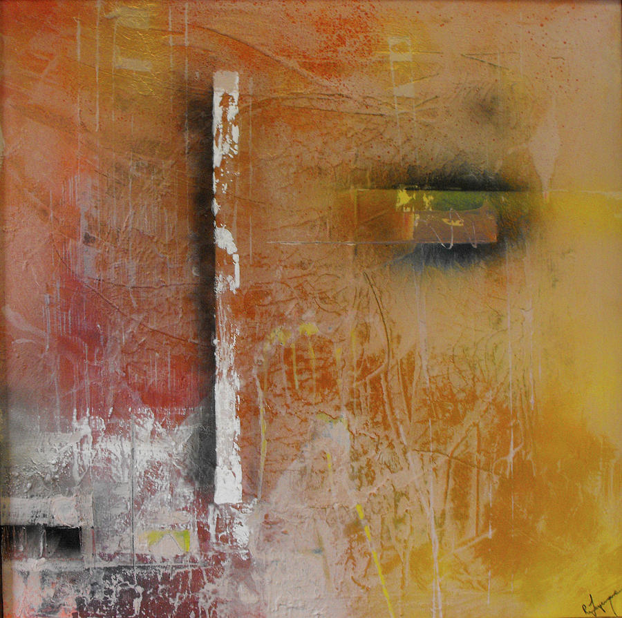 Abstract Painting - Effortless Mystery Of Trying by Ralph Levesque