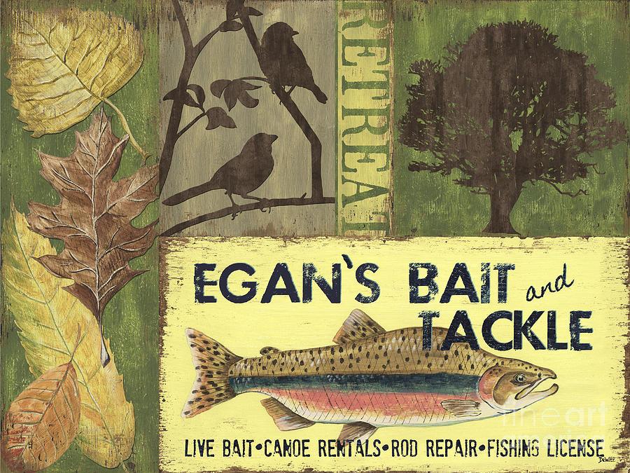 Lodge Painting - Egans Bait and Tackle Lodge by Debbie DeWitt