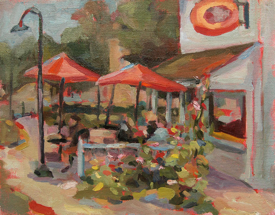 Landscape Paintings Painting - Egg Harbor by Jenny Anderson