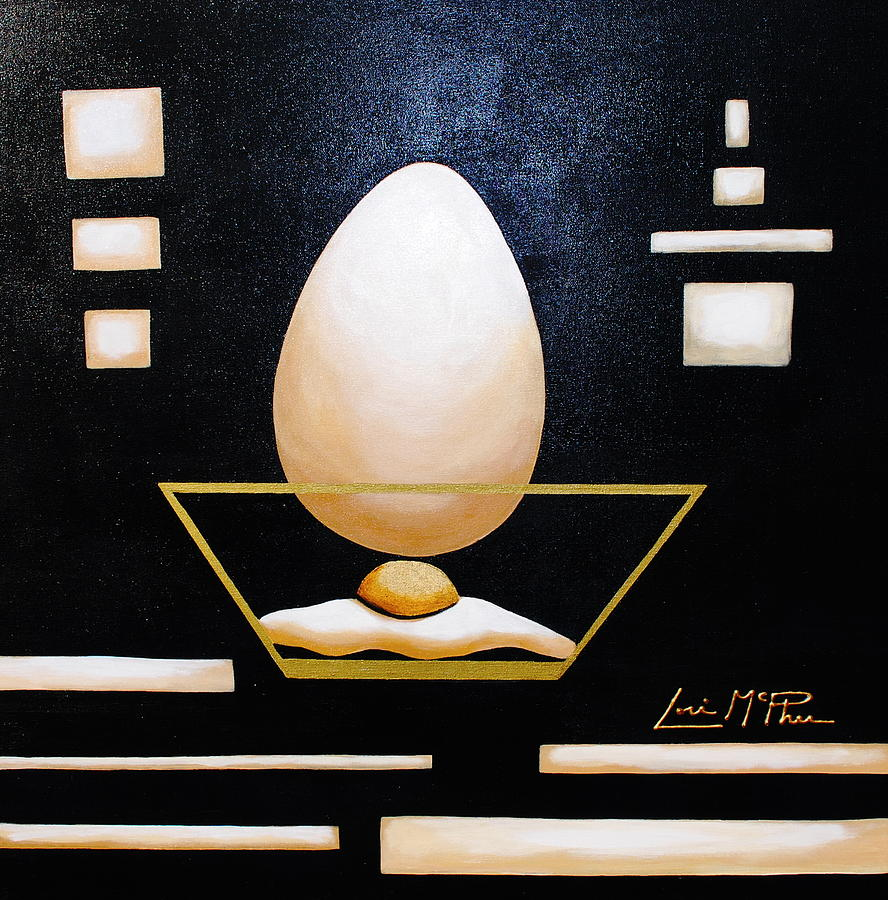Still Life Painting - Egg In A Bowl by Lori McPhee