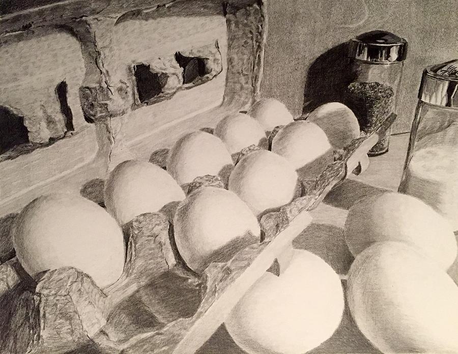 Egg Still Life Drawing
