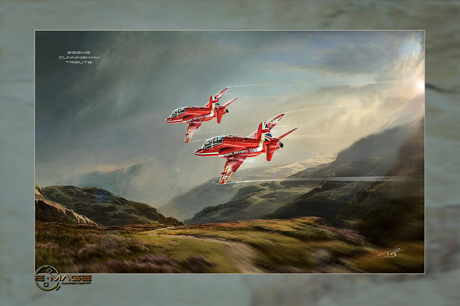 War Digital Art - Egging Cunningham Tribute by Peter Van Stigt