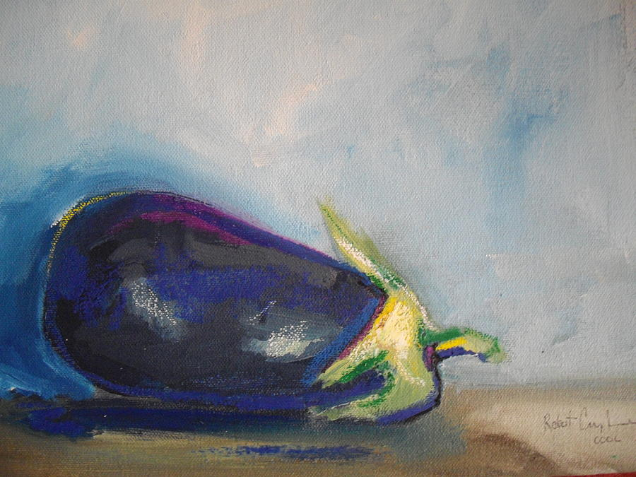 Eggplant Painting by Robert Cunningham