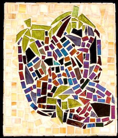 Eggplants Glass Art - Eggplants by Diane Morizio