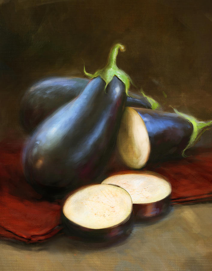 Vegetables Painting - Eggplants by Robert Papp