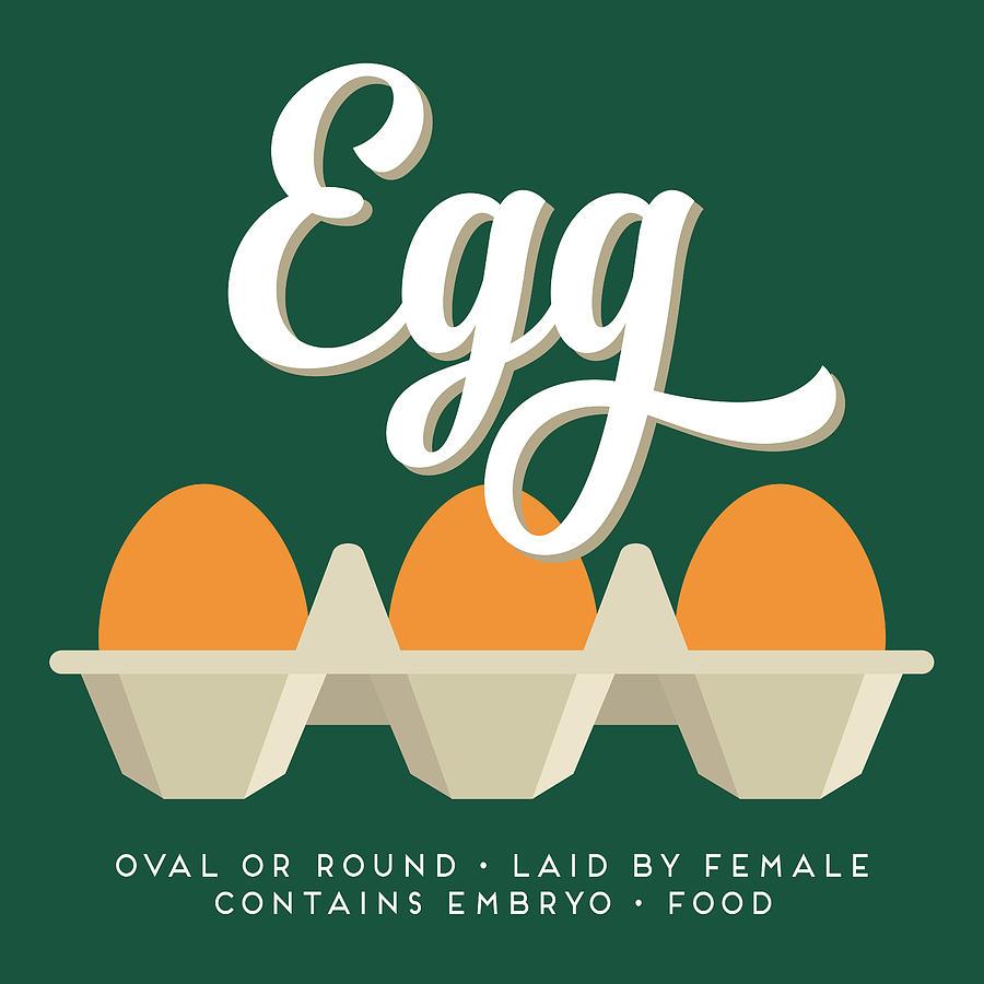 Egg Digital Art - Eggs Defined by Flo Karp