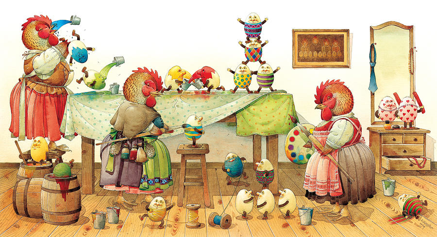 Eggs Easter Painting - Eggs Dyeing by Kestutis Kasparavicius