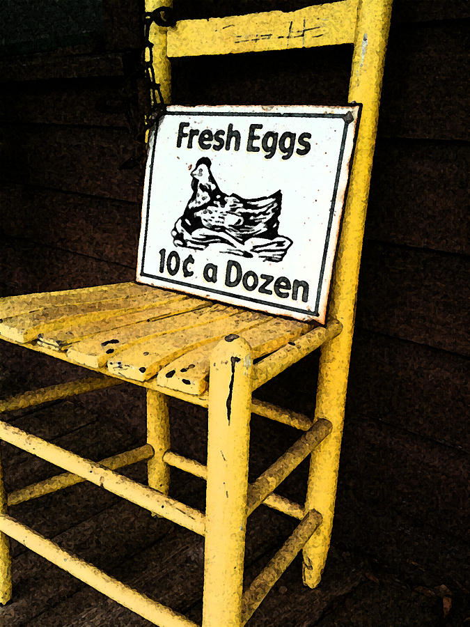 Eggs Photograph - Eggs For Sale by Lori Mellen-Pagliaro