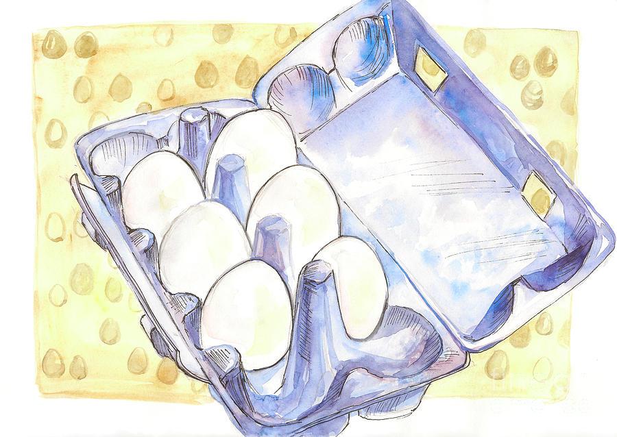 Eggs Painting - Eggs by Yana Sadykova
