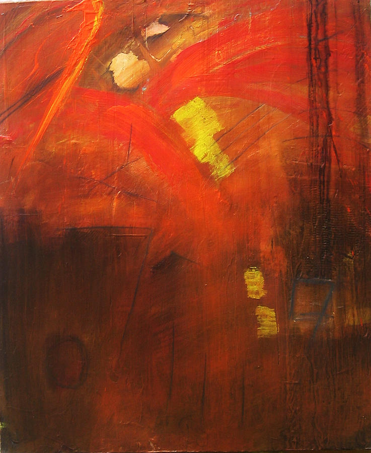 Abstract Painting - Ego Trip by Carrie Allbritton