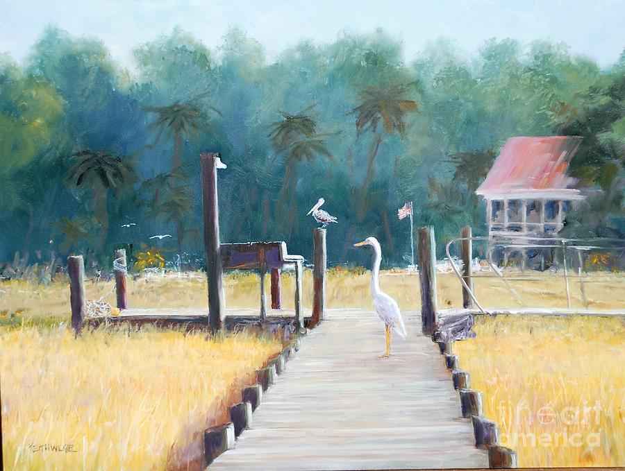 Egret Dock by Keith Wilkie