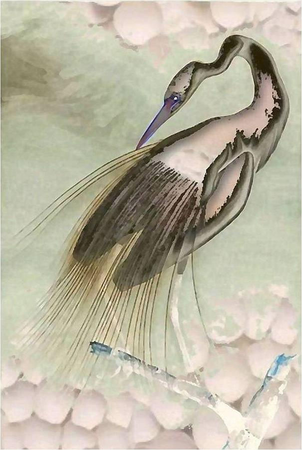 Egret Pastel Mixed Media by Brenda Garacci