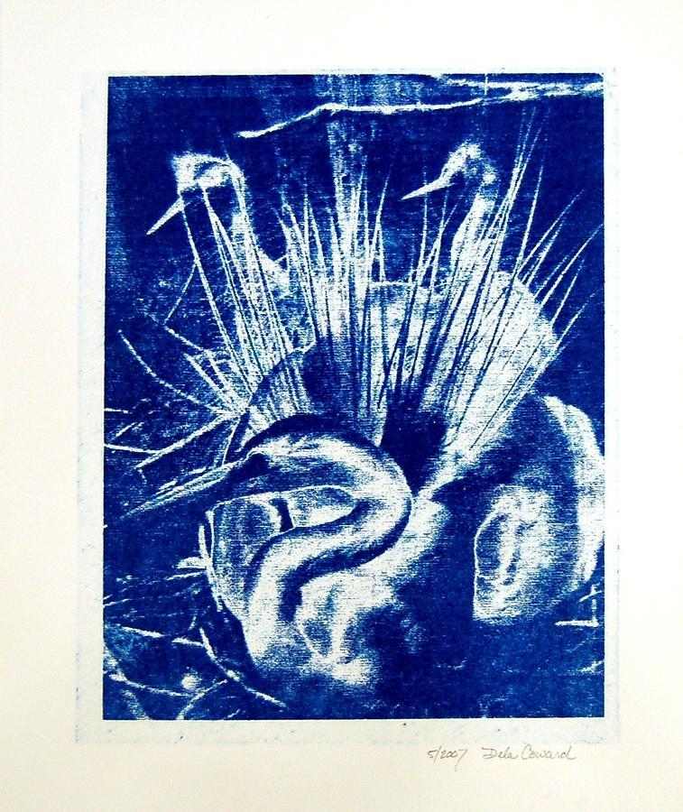 Egrets Print - Egrets by DeLa Hayes Coward