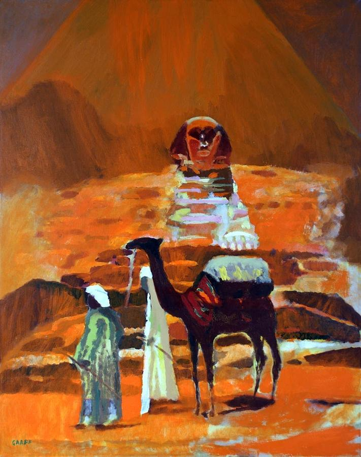 Camel Painting - Egypt Light  by Enrico Garff