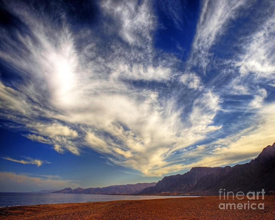 Egypt Sahara Desert Red Sea Night Sky Image Photograph