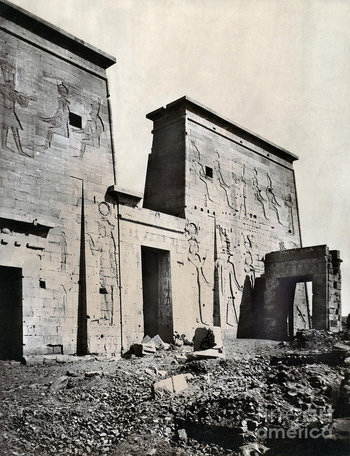 1875 Photograph - Egypt: Temple Of Isis by Granger