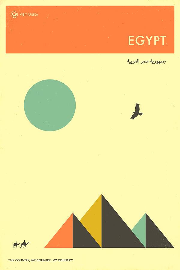 Egypt Digital Art - Egypt Travel Poster by Jazzberry Blue