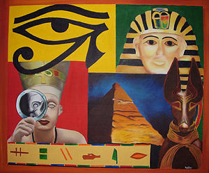 Collage Painting - Egyptian Collage by Spider Ryan