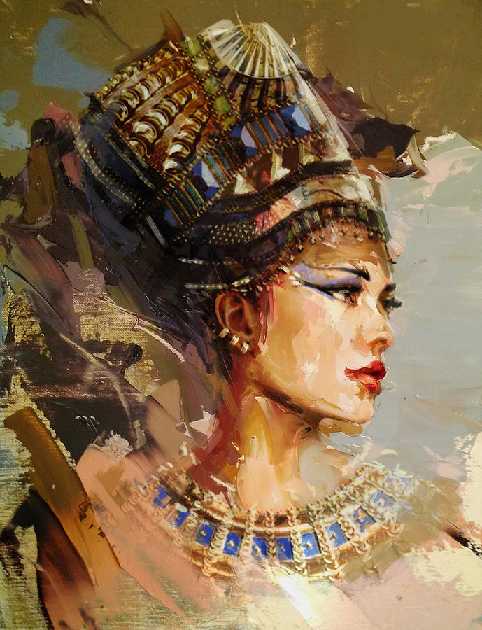 Egyptian culture 11 painting by maryam mughal for Egyptian mural paintings