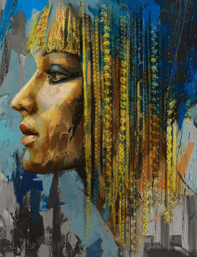 Egypt Painting - Egyptian Culture 1b by Mahnoor Shah