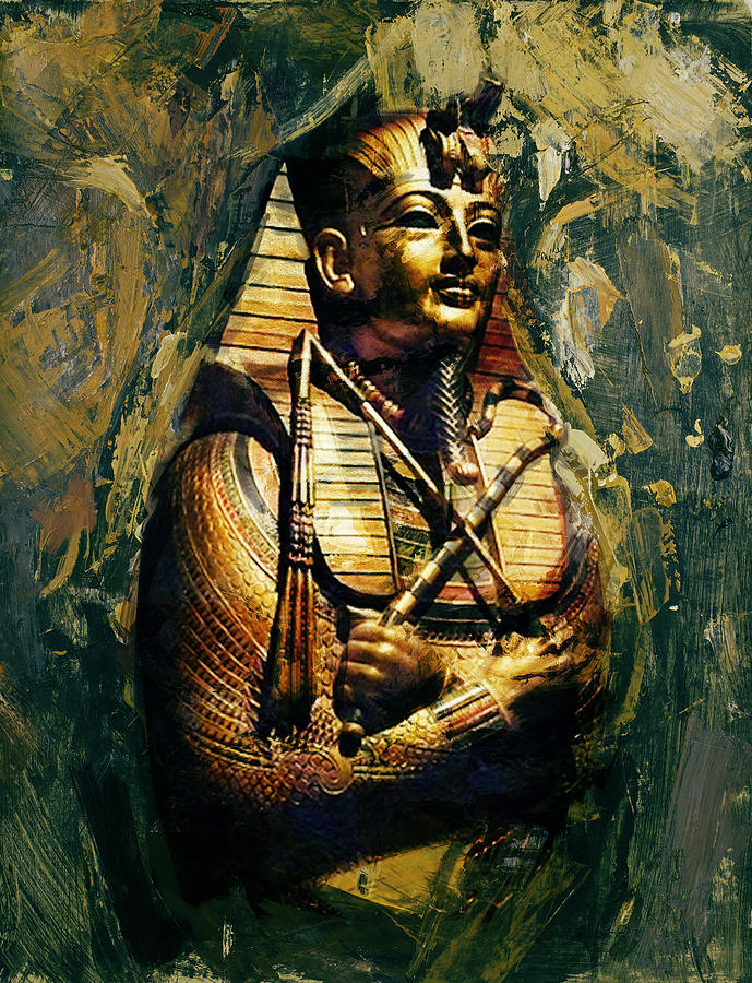 Egypt Painting - Egyptian Culture 3b by Maryam Mughal