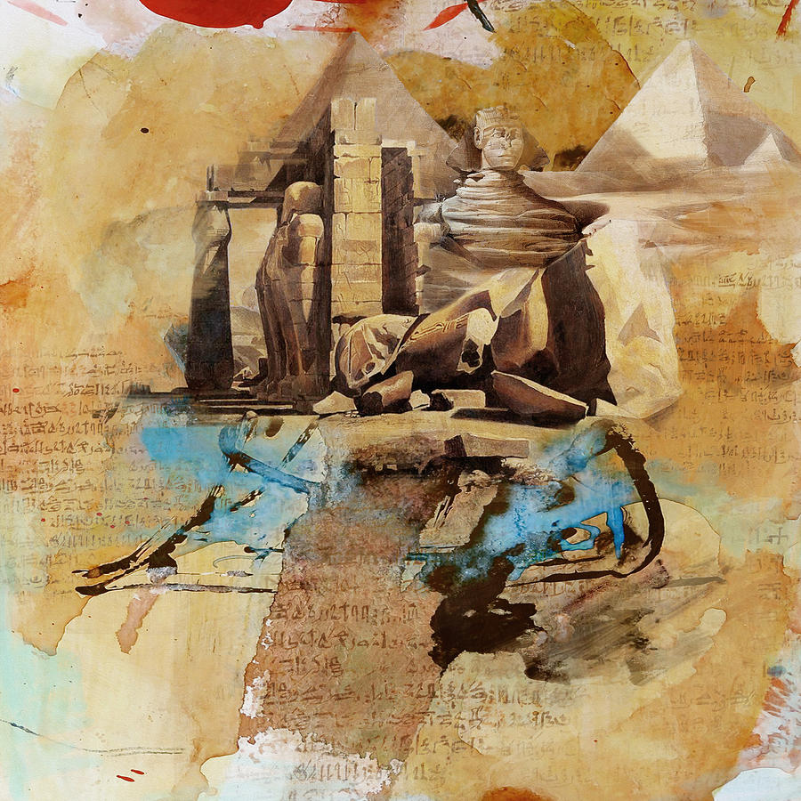 Egypt Painting - Egyptian Culture 56 by Corporate Art Task Force