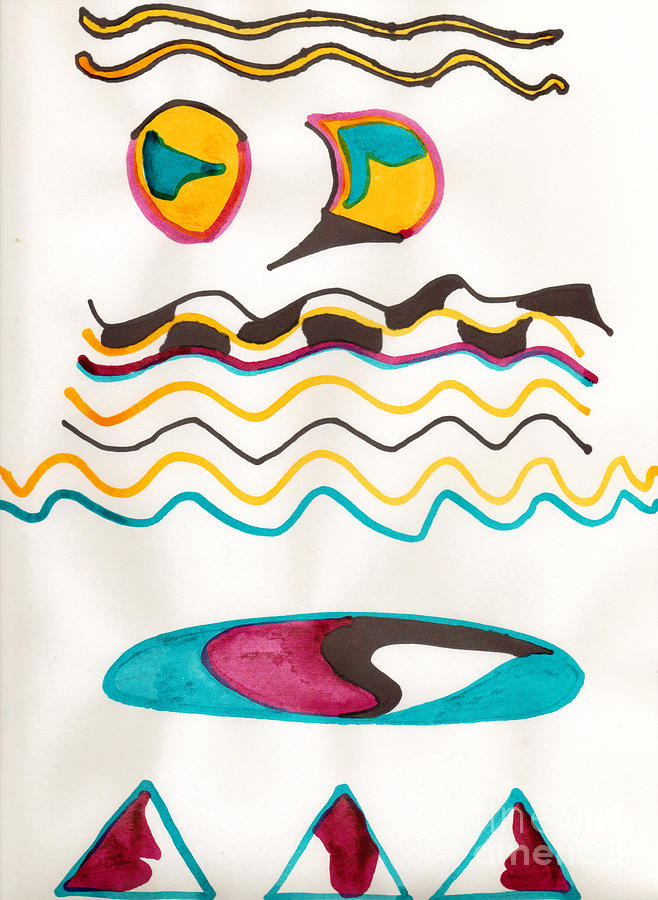 Colourful Photograph - Egyptian Design by Mary Mikawoz