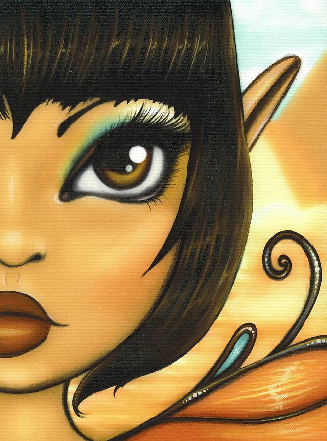 Fantasy Fairy Painting - Egyptian Fairy by Elaina  Wagner