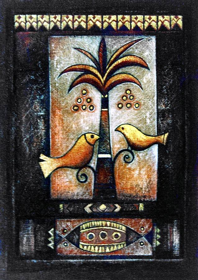 Egyptian Folk Art 1 Painting by Ehab Lotfi